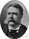 Arthur - elected vice president and became 21st President of the United States when Garfield was assassinated (1830-1886)