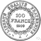French franc - formerly the basic unit of money in France