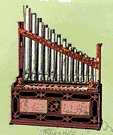 pipe - the flues and stops on a pipe organ