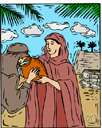 Rebekah - (Old Testament) wife of Isaac and mother of Jacob and Esau
