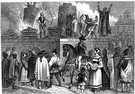 inquisition - a former tribunal of the Roman Catholic Church (1232-1820) created to discover and suppress heresy