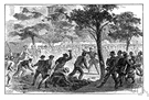 race riot - a riot caused by hatred for one another of members of different races in the same community