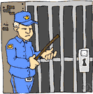 jailor - someone who guards prisoners