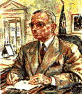 Truman - elected vice president in Roosevelt's 4th term