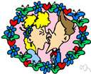 osculation - the act of caressing with the lips (or an instance thereof)