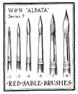 sable brush - an artist's brush made of sable hairs