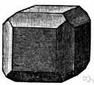 truncation - the replacement of an edge or solid angle (as in cutting a gemstone) by a plane (especially by a plane that is equally inclined to the adjacent faces)