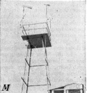 observation tower - a structure commanding a wide view of its surroundings