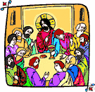 Last Supper - the traditional Passover supper of Jesus with his disciples on the eve of his crucifixion