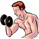 dumbbell - an exercising weight