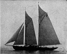 gaff-headed sail - a quadrilateral fore-and-aft sail suspended from a gaff