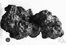 nugget - a solid lump of a precious metal (especially gold) as found in the earth