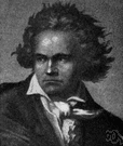 Beethovenian - of or relating to Ludwig van Beethoven or his music