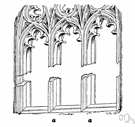 mullion - a nonstructural vertical strip between the casements or panes of a window (or the panels of a screen)