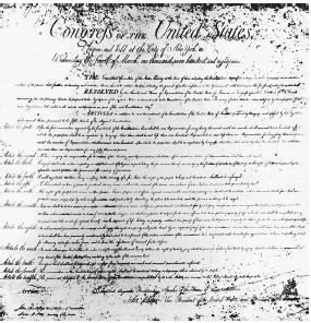 In this 1789 draft of the Bill of Rights, the Tenth Amendment to the Constitution appears as Article the Twelfth, reserving to the states or to the people powers not delegated to the federal government. NATIONAL ARCHIVES AND RECORDS ADMINISTRATION