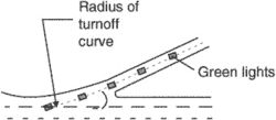 taxiway-turnoff lighting