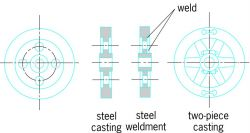 Typical flywheel structures