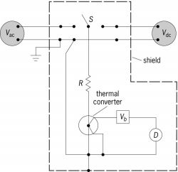 Basic circuit for ac-dc transfer measurements of ac voltages