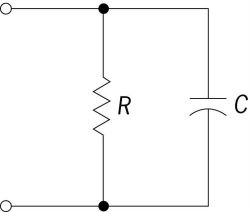 Circuit with a resistor and capacitor in parallel