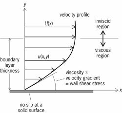 Typical laminar boundary-layer velocity profile