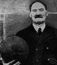 James Naismith - United States educator (born in Canada) who invented the game of basketball (1861-1939)