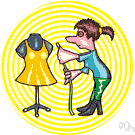 seamstress - someone who makes or mends dresses