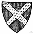 saltire - a cross resembling the letter x, with diagonal bars of equal length