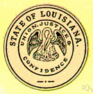 Louisiana - a state in southern United States on the Gulf of Mexico
