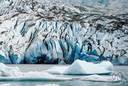 Great Mendenhall Glacier - a glacier of the Piedmont type near Juneau in Alaska
