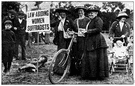 suffragist - an advocate of the extension of voting rights (especially to women)