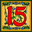 15 - the cardinal number that is the sum of fourteen and one