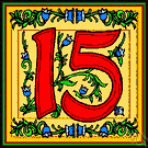 XV - the cardinal number that is the sum of fourteen and one