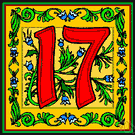 17 - the cardinal number that is the sum of sixteen and one