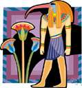 Thoth - Egyptian Moon deity with the head of an ibis