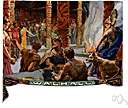 Walhalla - (Norse mythology) the hall in which the souls of heros slain in battle were received by Odin