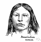Native American - any member of the peoples living in North or South America before the Europeans arrived