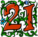 21 - the cardinal number that is the sum of twenty and one
