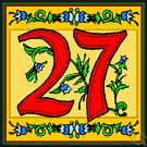 twenty-seven - the cardinal number that is the sum of twenty-six and one