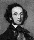 Felix Mendelssohn - German musician and romantic composer of orchestral and choral works (1809-1847)