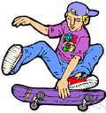 skateboarding - the sport of skating on a skateboard