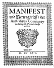 manifest - a customs document listing the contents put on a ship or plane