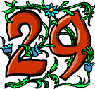 twenty-nine - the cardinal number that is the sum of twenty-eight and one
