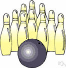 duckpin - a bowling pin that is short and squat by comparison with a tenpin