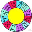 zodiac - (astrology) a circular diagram representing the 12 zodiacal constellations and showing their signs