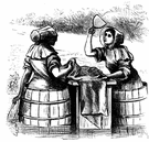 laundress - a working woman who takes in washing
