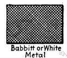 Babbitt metal - an alloy of tin with some copper and antimony