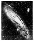 Andromeda galaxy - a spiral galaxy in the constellation of Andromeda that is visible to the naked eye
