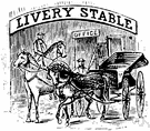 livery stable - stable where horses and vehicles are kept for hire