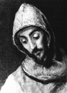 Saint Francis - (Roman Catholic Church) an Italian and the Roman Catholic monk who founded the Franciscan order of friars (1181-1226)