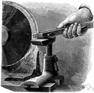emery wheel - a wheel composed of abrasive material